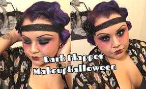 dark flapper makeup halloween miss dimple darling youtube