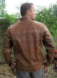 men s bike jackets mens tall size retro brown buffalo hide cafe leather jacket item