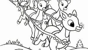 89 rudolph santa sleigh coloring santa coloring