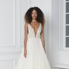 v neck wedding dresses 15 plunging v neck wedding dresses for major wow factor brides