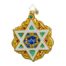hanukkah ornaments radko 1018537 shield of david of david hanukkah ornament