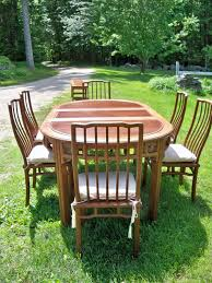 Vintage Rosewood Dining Table And Six Chairs From Hong Kong