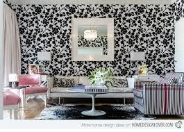 wallpaper livingroom 15 living room with floral wallpapers home design lover