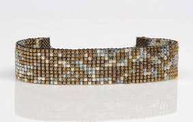 beaded woven bracelet images Bead weaving on a beading loom creating designs and memories jpg