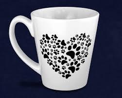 paw print heart coffee mugs wholesale bulk animal causes cups