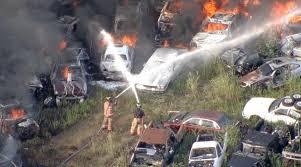 car junkyard arlington tx grass fire spreads to salvage yard in kennedale nbc 5 dallas