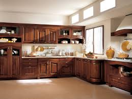 kitchen white cabinets gray countertops brown varnished wooden