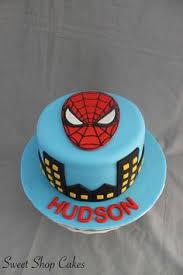 tier spiderman themed birthday cake birthday cake design