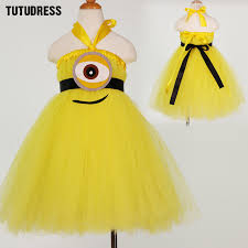 Minion Halloween Costume Baby Minion Aliexpress Buy Children Minion Princess Tutu Dress Baby