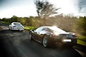 porsche ferrari lamborghini porsche 911 gt3 rs v ferrari 458 italia evo