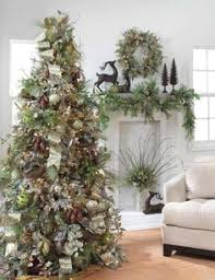 Christmas Decorations Trees Idea by How To Put Ribbon Garland On A Christmas Tree Ribbon Garland