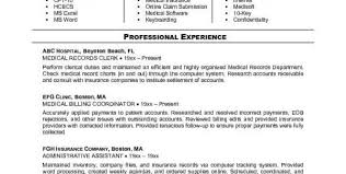Medical Billing Specialist Resume Examples by Medical Billing And Coding Internship Resume Samples Medical