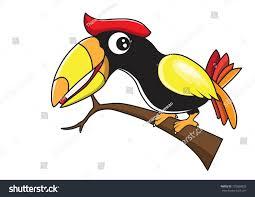 hornbill vector cartoon stock vector 120886828 shutterstock