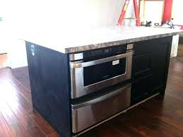 kitchen island with microwave drawer fancy wolf microwave drawer kitchen island with microwave drawer