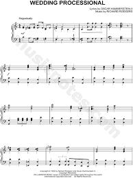 wedding processional wedding processional from the sound of sheet piano