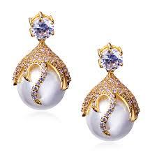 beautiful gold earrings aliexpress buy 2016 beautiful peal drop earrings for women