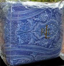 Ralph Lauren Comforter Queen Ralph Lauren Putney Paisley Blue Reversing To A Stripe King