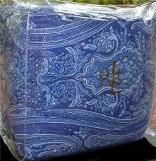 Ralph Lauren Comforter King Ralph Lauren Putney Paisley Blue Reversing To A Stripe King