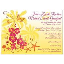 Post Wedding Invitations Party Simplicity Destination And Tropical Beach Wedding Invitations
