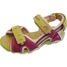 roxanne u0027 girls sandals in fuchsia pink and beige straps from