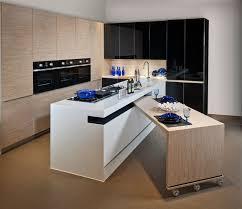petites tables de cuisine table sur cachée dans l ilot de cuisine pour plus de
