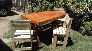 Make Wood Outdoor Table by Pallets Wood Outdoor Dining Set 99 Pallets