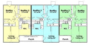 narrow lot townhouse plans bedroom duplex house basic floor with