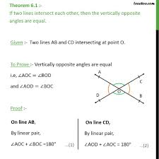 theorem 6 1 class 9 vertically opposite angles are equal theorem