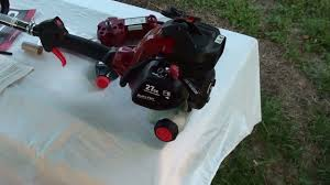 new craftsman gas weed trimmer with electric starter unboxing