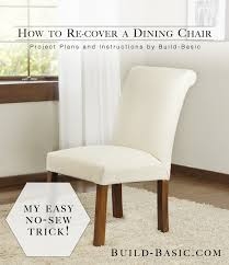 How To Make Dining Room Chair Covers Dining Chair Transformation Without A Sewing Machine U2039 Build Basic