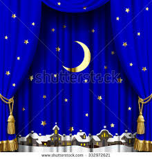 Gold And Blue Curtains Vector Image Blue Curtain Gold Tassels Stock Vector 220614814