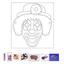 clown mask template images reverse search
