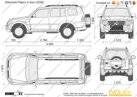 mitsubishi pajero 2006 the blueprints com vector drawing mitsubishi pajero iv 5 door