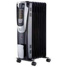 pelonis 1500 watt digital oil filled radiant portable heater with