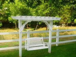 Pergola Post Design by Simple Ideas Of Pergola Swing Plans Home Exterior Design