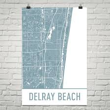 map of delray delray gifts and delray decor from modern map