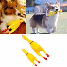 aliexpress com buy screaming shrilling yellow rubber chicken pet