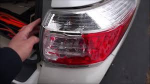 fix tail light cost toyota highlander tail light replacement 2011 youtube