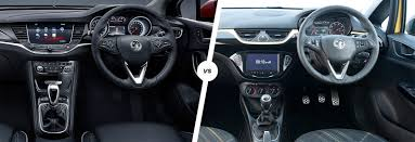 opel astra interior vauxhall astra vs corsa side by side comparison carwow