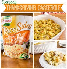 everyday thanksgiving casserole recipe with knorr sides