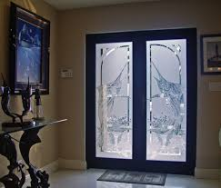 etched glass doors etched sandblasted