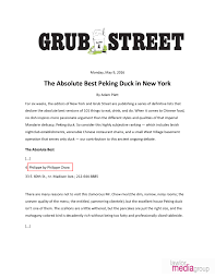 101 Things To Do With In New York The Absolute Best Peking Duck In New York Philippe Chow