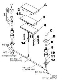 parts of a bathtub faucet order replacement parts for jacuzzi t581 water rainbow deck