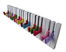 design kleiderhaken design wandgarderobe kleiderhaken hakenleiste 16 haken klavier