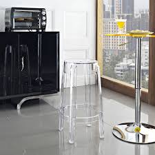 amazon com modway casper counter stool in clear kitchen u0026 dining