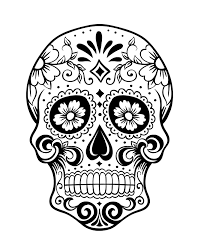 day of the dead skull coloring page 1 because i can pinterest
