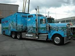 cost of new kenworth truck custom paint on tractor and trailer can t imagine what this work