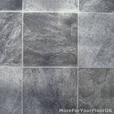 grey tile vinyl flooring kitchen bathroom lino gray lino
