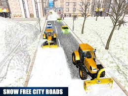 snow plow winter truck driver by 3d simulation