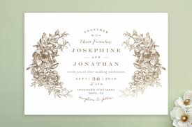 engraved wedding invitations engraved flowers wedding invitations by phrosne ra minted